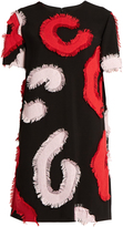 Versace Patchwork-appliqué crepe dress