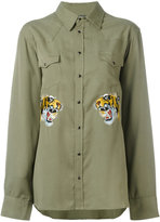 Laneus embroidered tiger shirt