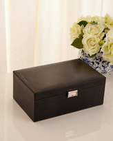 Renzo Romagnoli Black Leather Jewelry Case
