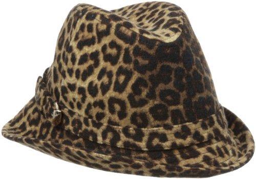 San Diego Hat Company San Diego Hat Women's Animal Asymetrical Fedora Hat