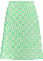 Goat Cotton-Blend Jacquard Skirt