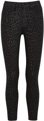 Good American Good Legs leopard-print skinny jeans