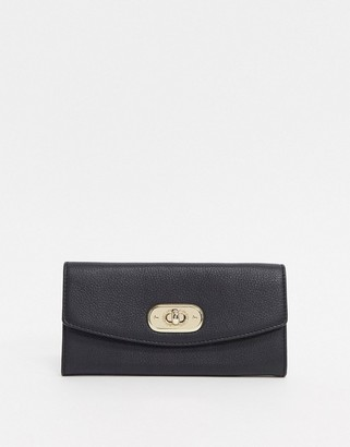 Paul Costelloe Leather Ladies' wallet With Gold Clasp In Black