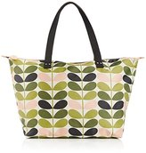 Orla Kiely Tonal Stem Print Zip Shopper Shoulder Bag