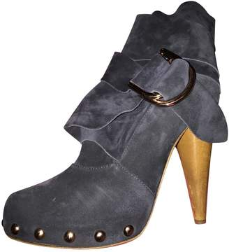 Mulberry Navy Suede Ankle boots