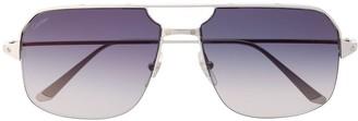 Cartier Santos de navigator-frame sunglasses