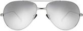 Linda Farrow White Gold Aviator Sunglasses