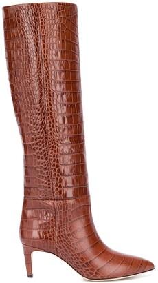 Paris Texas Crocodile-Effect Leather Boots