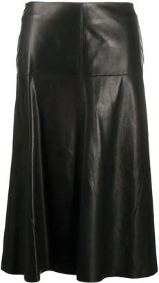 Arma High-Waisted Leather Skirt