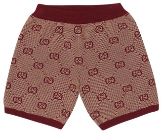 Gucci Kids Baby knitted wool and cotton shorts
