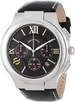 Philip Stein Teslar Men's 45-CRBK-CSTB Round Chronograph Dial Stitched Calf Strap Watch