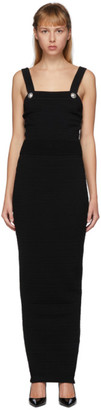 Balmain Black Knit Strap Long Dress