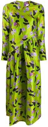 Christian Wijnants floral print midi dress