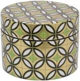 Three Hands Round Ceramic Box - Gold