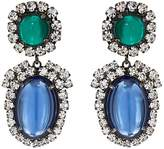 Kenneth Jay Lane WOMEN'S CABOCHON & CRYSTAL DOUBLE-DROP EARRINGS