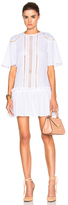 Nicholas Shoulder Panel Dress in White.