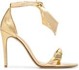 Alexandre Birman metallic tie strap sandals