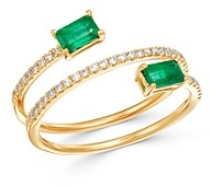Bloomingdale's Emerald & Diamond Coil Ring in 14k Yellow Gold - 100% Exclusive