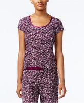Alfani Satin-Trimmed Printed Pajama Top, Only at Macy's