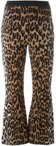 Stella McCartney flared cheetah jacquard trousers - women - Silk/Cotton/Polyamide/Wool - 42