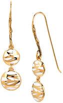 Diane von Furstenberg Belle de Jour Twig Round Double Drop Earring
