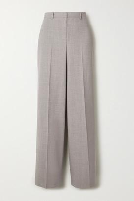 Theory Melange Stretch-wool Straight-leg Pants - Gray