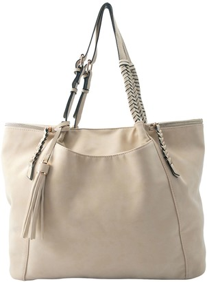 Violet Ray Multi Compartment Buckle Braided Handle Tote - Zoey
