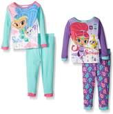 AME Sleepwear Shimmer and Shine Little Girls 4 Piece Pajama Set