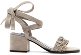 Senso Women's Juno Suede Frill Heeled Sandals Dove