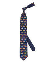 Thomas Pink Rooster Family Print Tie