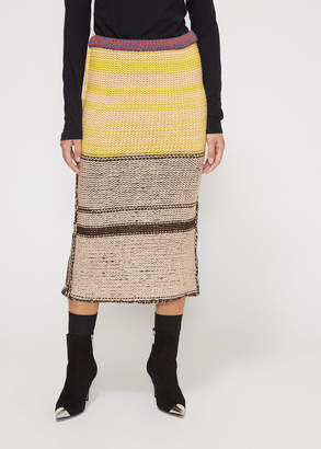 Calvin Klein Striped Knit Skirt