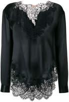 Ermanno Scervino lace long-sleeve blouse