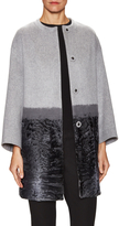 Carolina Herrera Women's Lamb Fur-Trimmed Cashmere Coat