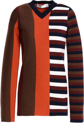 Victoria Beckham Paneled Wool-blend Sweater