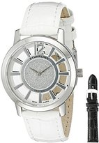 Stuhrling Original Women's 388L.SET.01 Edinburgh Transparent Dial Watch with Interchangeable Bands