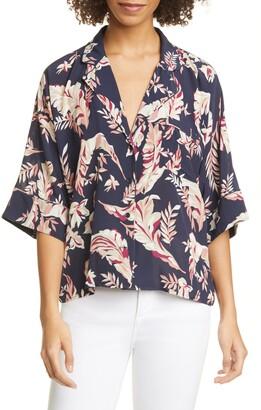 Joie Desmonda Floral Elbow Sleeve Top