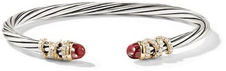 David Yurman Helena 18K Yellow Gold, Sterling Silver, Gemstone & Diamond Bracelet