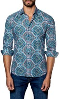 Jared Lang Men's Ripple Print Sport Shirt