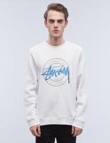 Stussy Ist Dot Applique Crewneck Sweatshirt