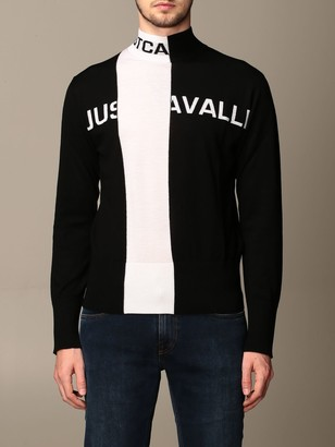 Just Cavalli Sweater Pullover With Two-tone Logo