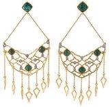 Alexis Bittar Chrysocolla & Crystal Chandelier Earrings
