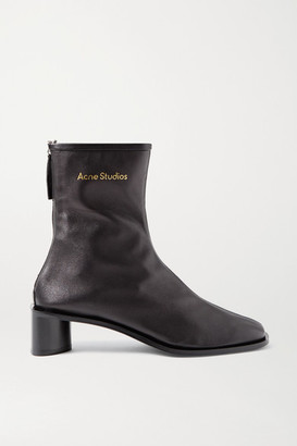 Acne Studios Leather Ankle Boots - Black