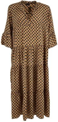 Black Colour - Luna Leaf Print Long Dress - S/M