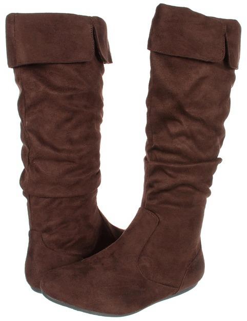 Romantic Soles Katelyn (Brown Micro Suede) - Footwear