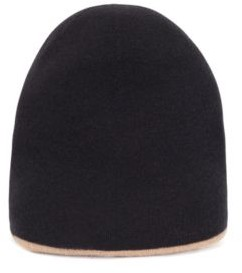 HUGO BOSS Reversible beanie hat in virgin wool with cashmere
