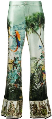 F.R.S For Restless Sleepers Silk Embroidered Trousers