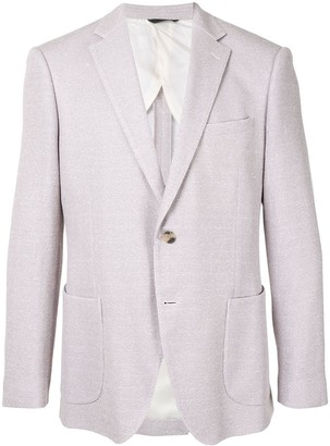 Durban Long Sleeve Knit-Detail Blazer