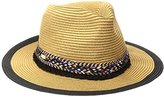 Steve Madden Women's Panama Hat with Braid Detail