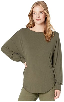 Free People Shimmy Shake Top (Army) Women's Clothing