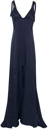 Les Héroïnes Bow-detailed Satin-crepe Slip Dress